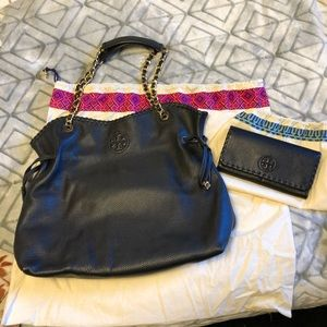 Tory Burch Marion Slouchy Tote & Envelope Wallet